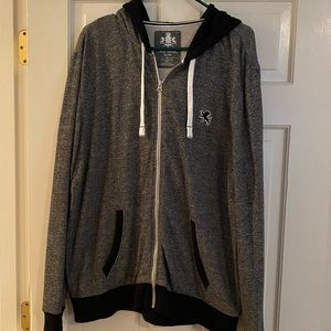 Express men's zip up hoodie, size xl